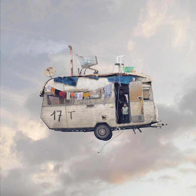 Advertising-Campaign-These-surreal-images-of-flying-houses-and Advertising Campaign : These surreal images of flying houses and their occupants invite you to let your imagination fly, too