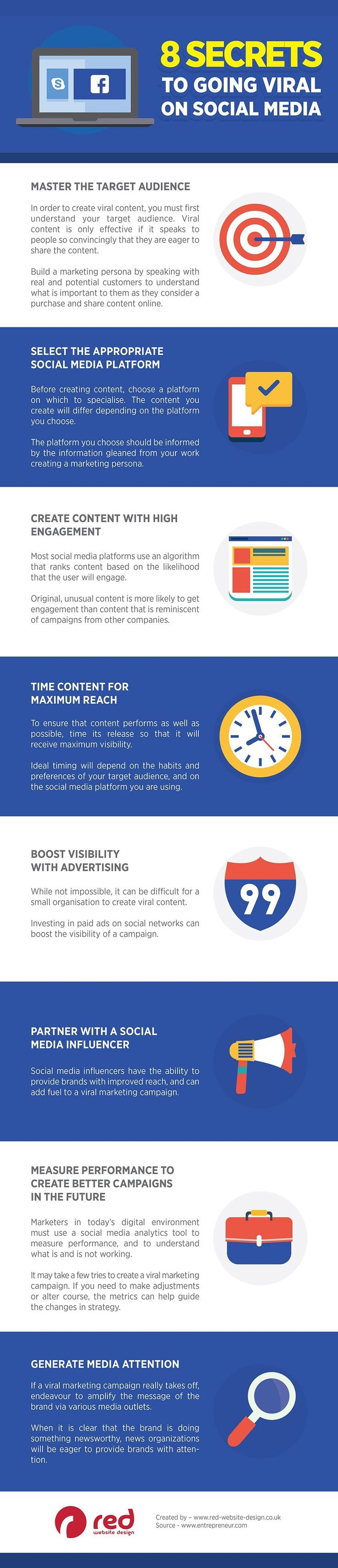 Advertising-Infographics-8-Secrets-to-Going-Viral-on-Social Advertising Infographics : 8 Secrets to Going Viral on Social Media - #Infographic