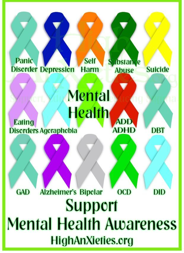 Psychology-Infographic-Mental-Health-Ribbons-these-are-serious Psychology Infographic : Mental Health Ribbons - these are serious conditions! Be kind to everyone  you m...