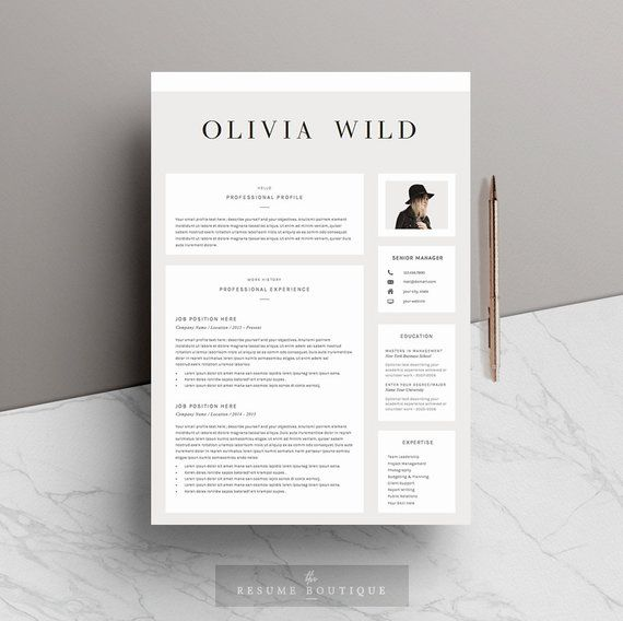 Creative Advertising : Resume Template 5 pages | CV Template ...