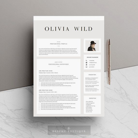 Creative Advertising : Resume Template 5 pages   CV Template ...