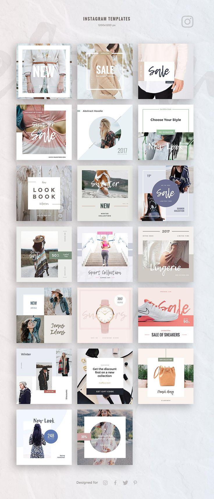 Creative-Advertising-eCommerce-Social-Media-Kit Creative Advertising : eCommerce Social Media Kit by Evatheme Market on Creative Market