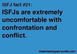 Infographic : ISFJs are extremely uncomfortable with