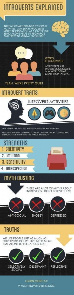 Infographic-Introverts-Explained-Infographic Infographic : Introverts Explained Infographic