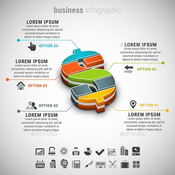 Advertising Infographics : Business Infographic Template PSD