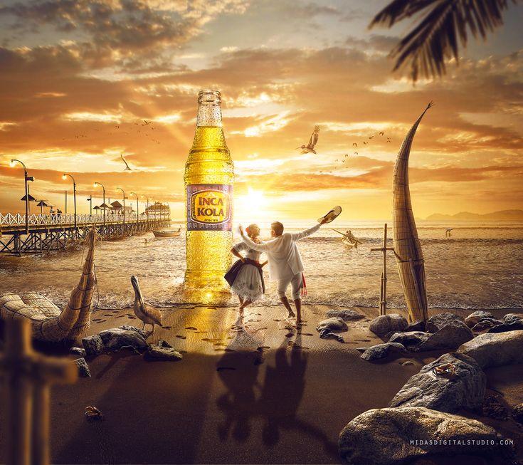 Creative-Advertising-Inca-Kola-Iconicos-on-Behance Creative Advertising : Inca Kola Icónicos on Behance
