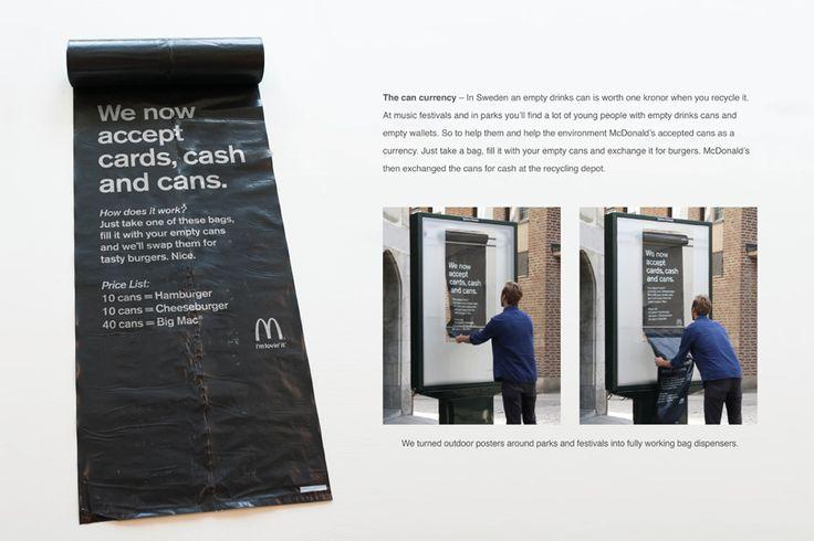 Creative-Advertising-McDonalds-Sweden-Accepts-Recycled-Cans-as-Currency Creative Advertising : McDonald's Sweden Accepts Recycled Cans as Currency