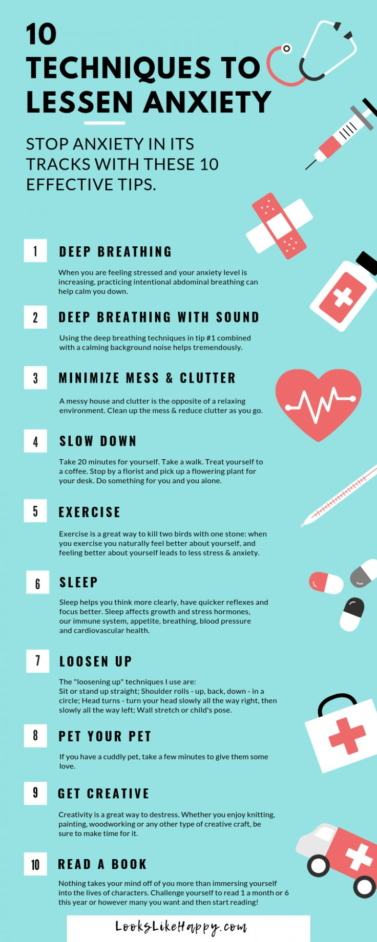 Psychology-Infographic-10-Techniques-to-Calm-Your-Anxiety Psychology Infographic : 10 Techniques to Calm Your Anxiety - Without Having a Drink