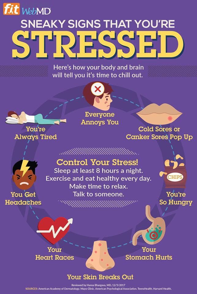 Psychology Infographic : Sneaky physical signs of #stress and ways you can  control it - AdvertisingRow.com | Home of Advertising Professionals,  Advertising news, Infographics, Job offers
