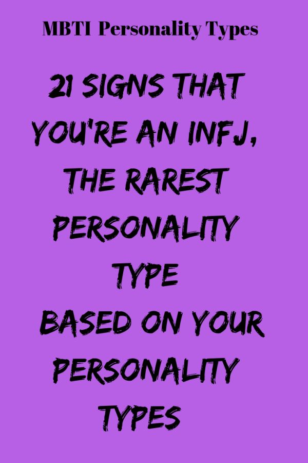 1566950433_456_Infographic-21-Signs-That-You're-An-INFJ-The-Rarest Infographic : 21 Signs That You're An INFJ, The Rarest Personality Type – Flaming Catalog ...