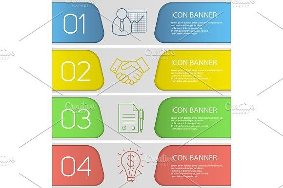 Advertising-Infographics-Business-banner-template-set.-Vector.-Graphic-Design Advertising Infographics : Business banner template set. Vector. Graphic Design Infographics #advertising #...
