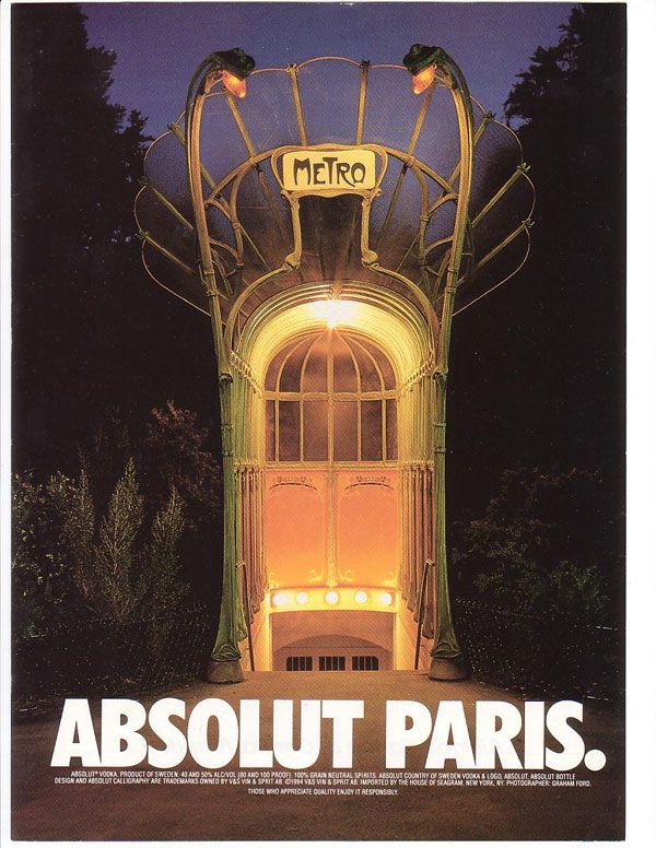 Creative-Advertising-Absolut-Paris Creative Advertising : Absolut Paris