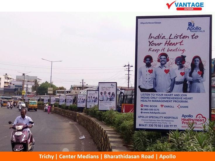 Healthcare-Advertising-Apollo-Hospital-Center-Medians-@-Trichy Healthcare Advertising : Apollo Hospital Center Medians @ Trichy