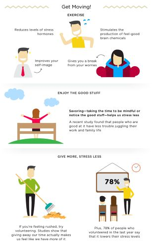Psychology-Infographic-Infographic-How-To-Feel-Happier-And-Less Psychology Infographic : Infographic: How To Feel Happier And Less Stressed
