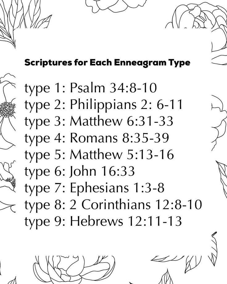 "Infographic-Christina-S.-Wilcox-on-Instagram-""Scriptures-for-Each Infographic : Christina S. Wilcox on Instagram: ""Scriptures for Each Enneagram Type ✨🙌..."