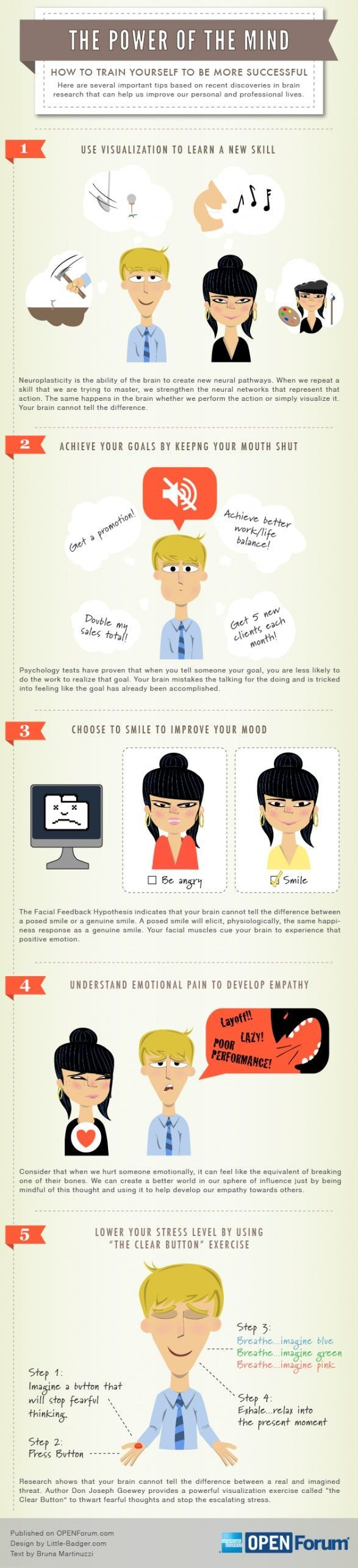Psychology-Infographic-How-to-Train-Your-Brain-to-Be Psychology Infographic : Psychology : power of the mind. 5 ways brain research can help your business - How to Train Your Brain to Be More Successful