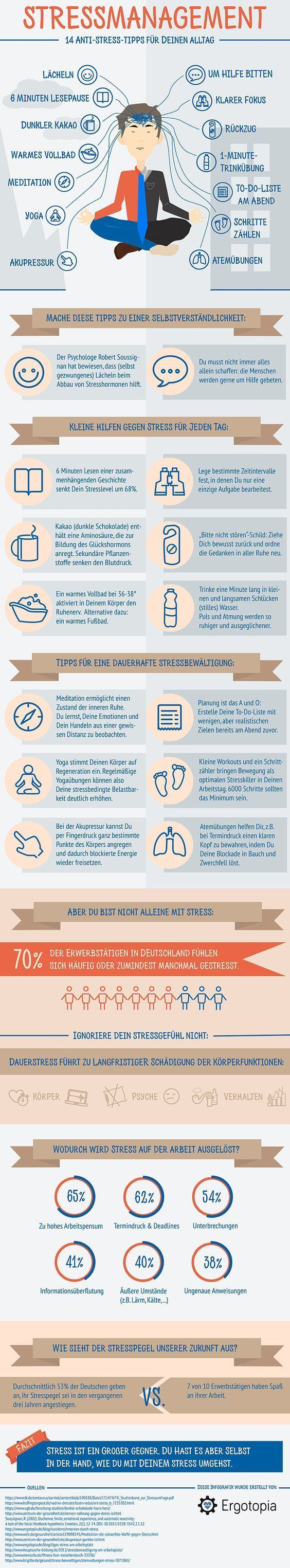 Psychology Infographic : Stress management infographic: 14 ...