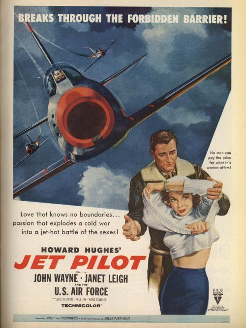 """Advertising-Inspiration-John-Wayne-Starring-is-Howard-Hughes'-""""Jet Advertising Inspiration : John Wayne Starring is Howard Hughes' """"Jet..."""