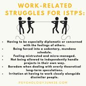 """Infographic-Psychology-Junkie-on-Instagram-""""ISTPs-experience-a-lot Infographic : Psychology Junkie on Instagram: """"#ISTPs experience a lot of stress at work when they aren't given autonomy, variety, or independence. #ISTP #MBTI #Myersbriggs #Personality…"""""""