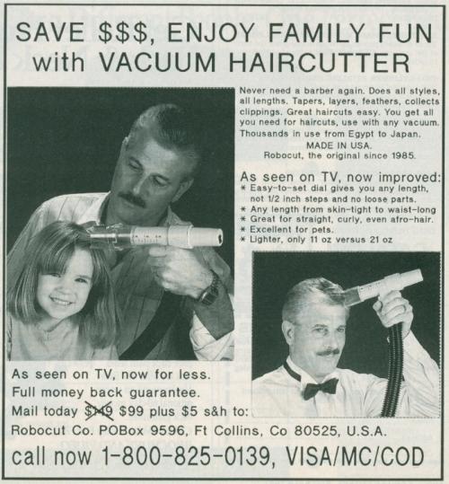 """Advertising-Inspiration-""""Save-Enjoy-Family-Fun-with-Vacuum Advertising Inspiration : """"Save $$$, Enjoy Family Fun with Vacuum Haircutter""""..."""