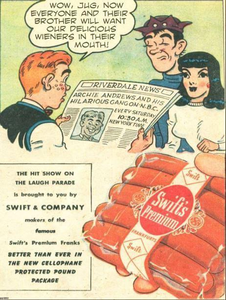 Advertising-Inspiration-Vintage-Weiner-ad-from-the-1940s-w Advertising Inspiration : Vintage Weiner ad from the 1940s w/ Archie, Jughead and...