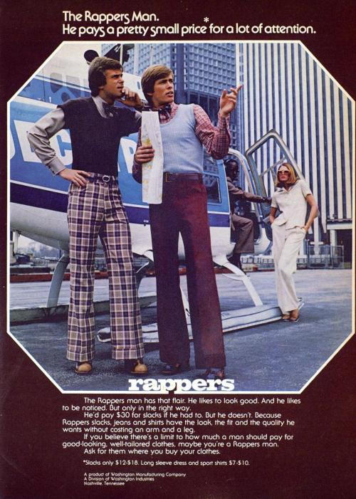 Advertising-Inspiration-The-Rappers-Man-Washington-Mfg-Co-1973Source Advertising Inspiration : The Rappers Man, Washington Mfg Co, 1973Source:...
