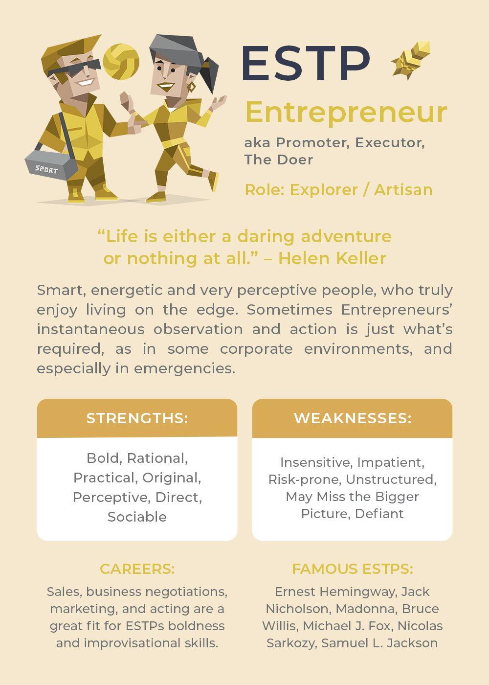 Infographic-ESTP-Personality-Type Infographic : ESTP Personality Type
