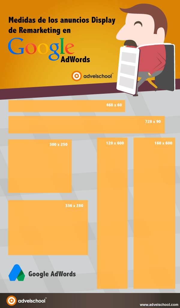 Advertising-Infographics-Medidas-de-los-anuncios-Display-de-Remarketing Advertising Infographics : Medidas de los anuncios Display de Remarketing en Google AdWords #infografia #marketing - TICs y Formación