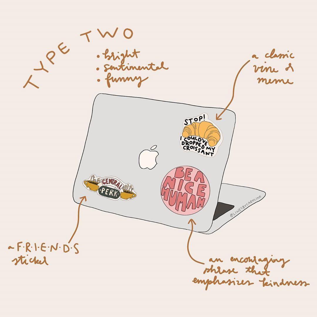 "Infographic-Caroline-on-Instagram-""laptop-stickers-for-each-enneagram Infographic : Caroline on Instagram: ""laptop stickers for each enneagram type✨ type two:-) . . . #enneagram #enneagramtypes #enneagram2 #enneagramtype2"""