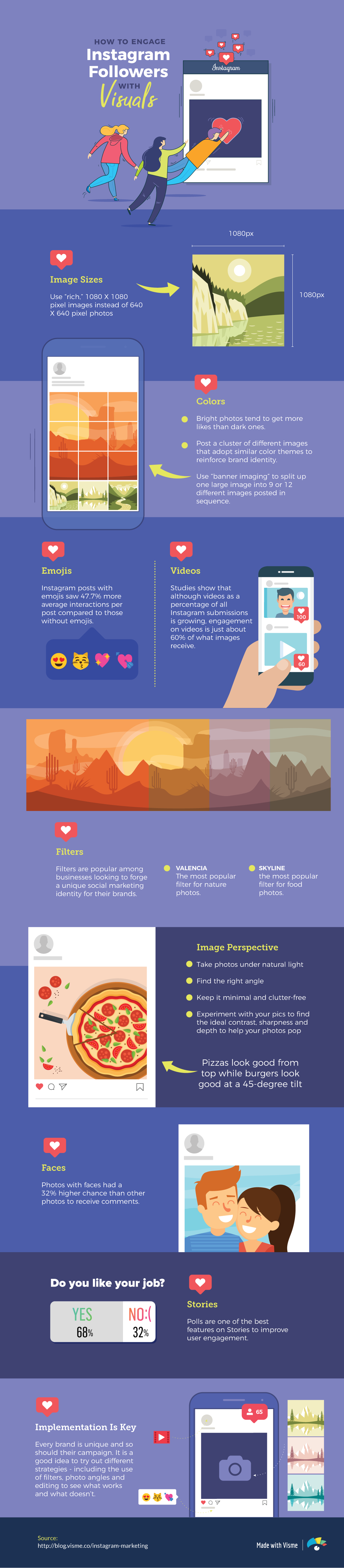 Advertising-Infographics-Instagram-Marketing-Guide-How-To-Engage-Followers Advertising Infographics : Instagram Marketing Guide: How To Engage Followers With Visuals