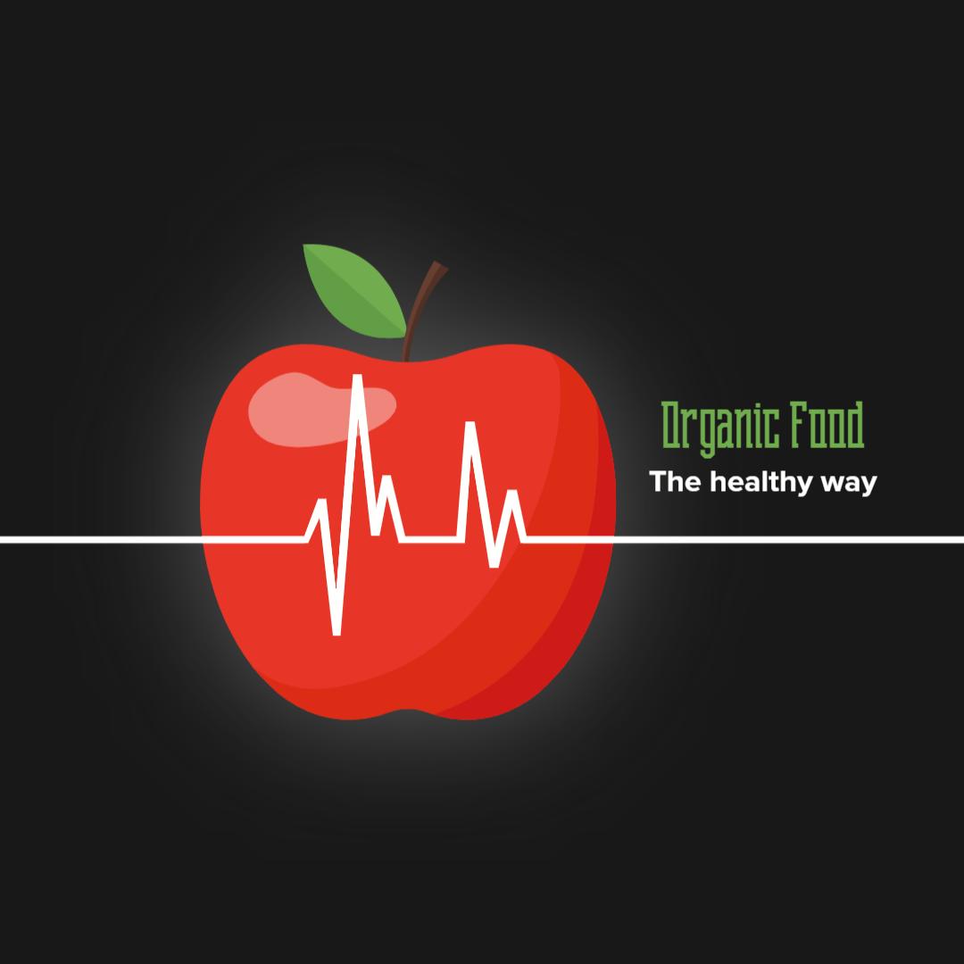 Advertising-Infographics-Organic-Food-Pinterest-Board-Cover-Pin Advertising Infographics : Organic Food - Pinterest Board Cover Pin Ad for Food, Beverage & Restaurant | Seedtale - The #1 editable design marketplace