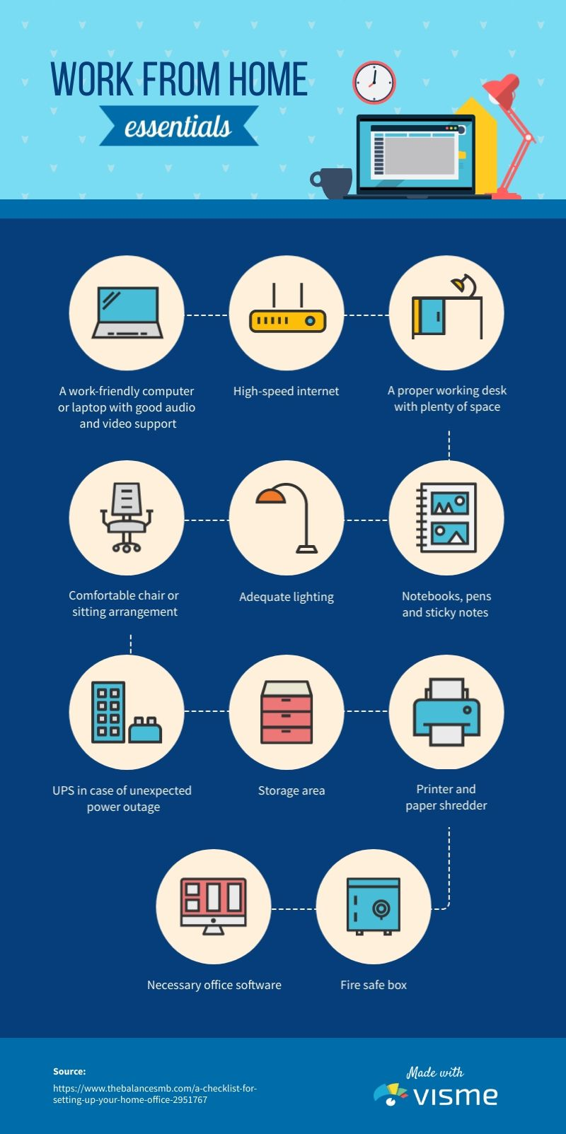 Advertising-Infographics-Work-from-Home-Essentials-Infographic-Template Advertising Infographics : Work from Home Essentials - Infographic Template