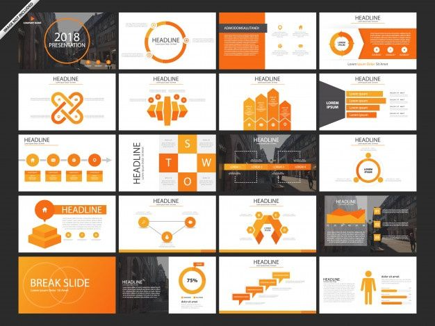 Advertising-Infographics-20-Bundle-Orange-Presentation-Slides Advertising Infographics : 20 Bundle Orange Presentation Slides
