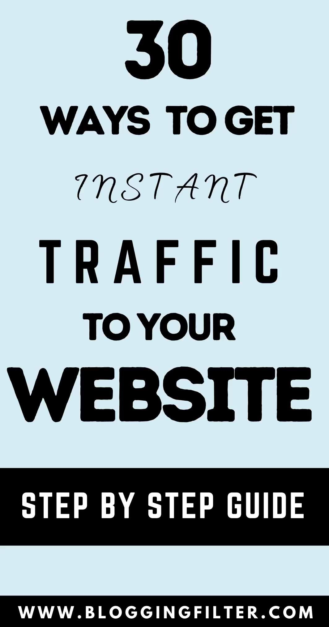 Advertising-Infographics-30-Ways-to-Get-Instant-Traffic-to Advertising Infographics : 30 Ways to Get Instant Traffic to Your Website