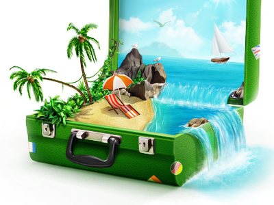 Advertising-Infographics-Green-suitcase Advertising Infographics : Green suitcase