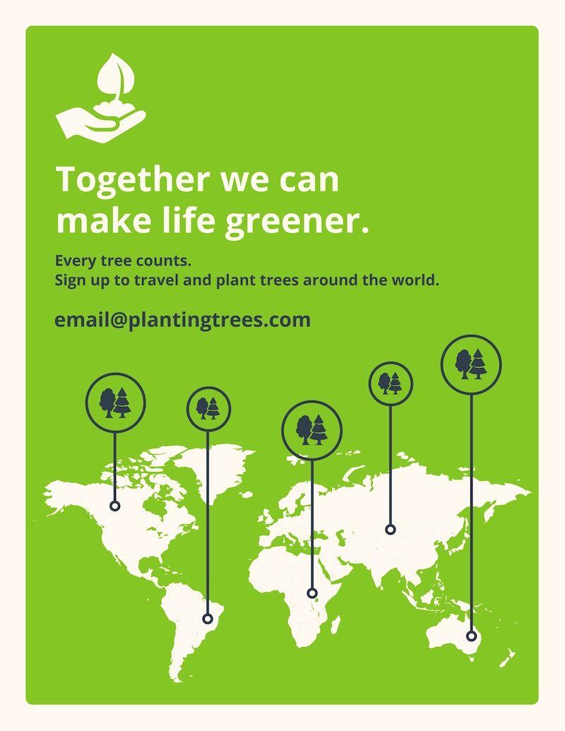 Advertising-Infographics-Saving-Trees-Infographic-Template Advertising Infographics : Saving Trees Infographic Template