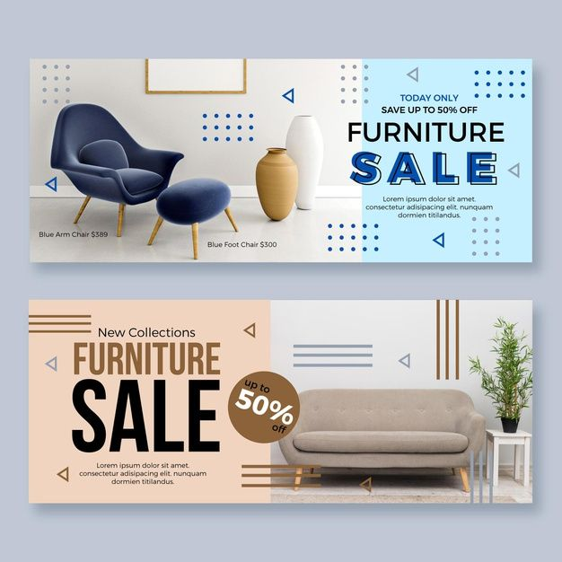 Advertising-Infographics-Furniture-Sale-Banners Advertising Infographics : Furniture Sale Banners
