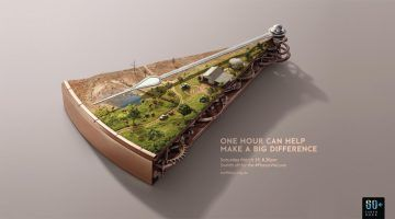 Advertising-Infographics-How-Cool-Is-The-Art-Direction-In Advertising Infographics : How Cool Is The Art Direction In These Ads For Earth Hour?