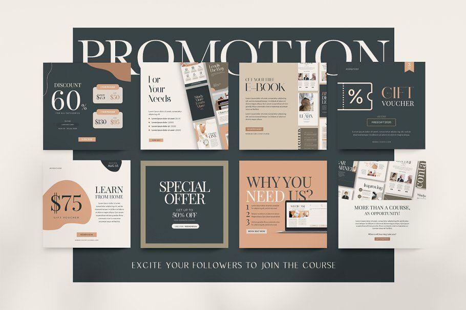 1625404915_405_Advertising-Infographics-Ad-Instagram-For-eCourse-CANVA-PS Advertising Infographics : Ad: Instagram For eCourse | CANVA PS by Eviory on Creative Market. 212 Instagram...