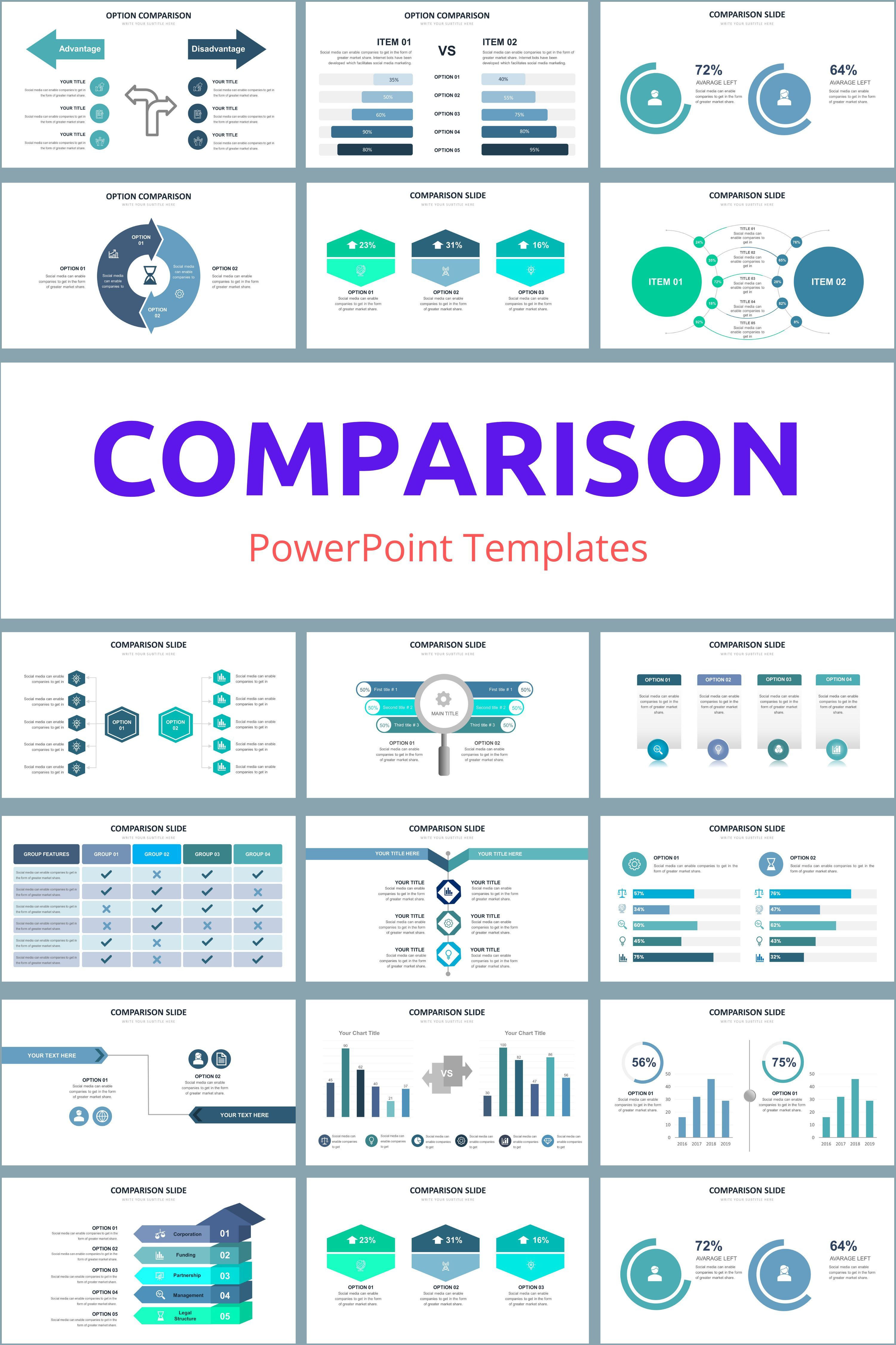 Advertising-Infographics-Comparison-PowerPoint-Templates-20-best-design Advertising Infographics : Comparison PowerPoint Templates - 20 best design infographic templates